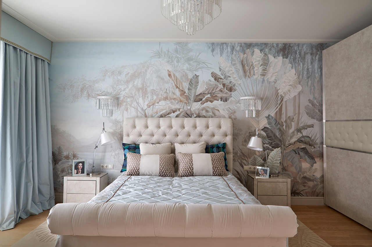 "Irina Bezrukova's bedroom, Exclusive catalog ""Idealny remont"", the First Channel"