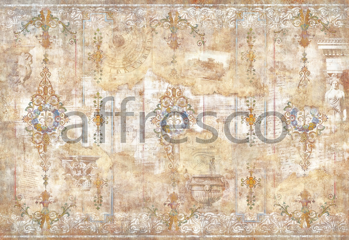 7180 | Classic Ornaments | aging wall with ornament designs | Affresco Factory