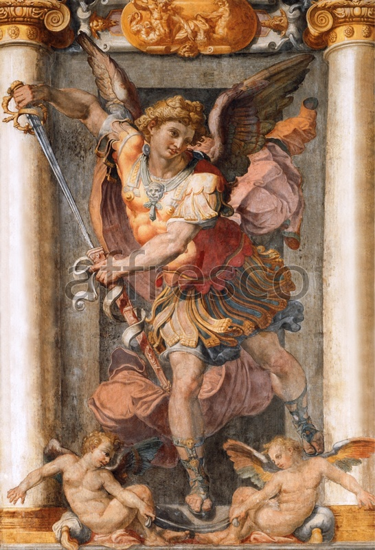 3059 | Classic Scenes | angel with a spear | Affresco Factory