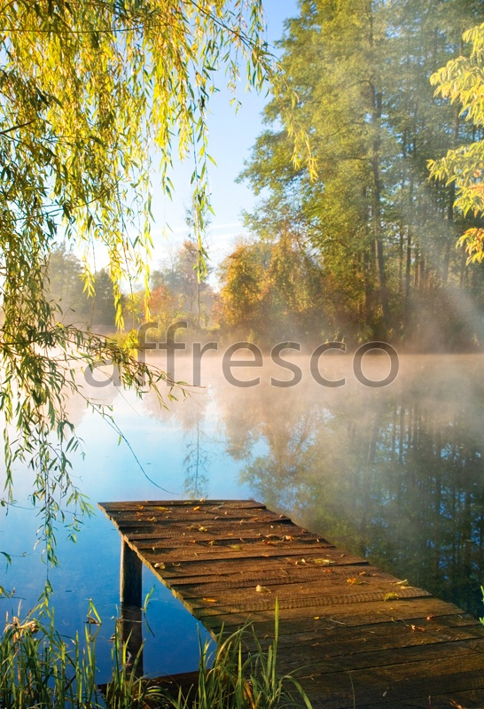 ID10862 | Pictures of Nature  | Bridge by the lake | Affresco Factory