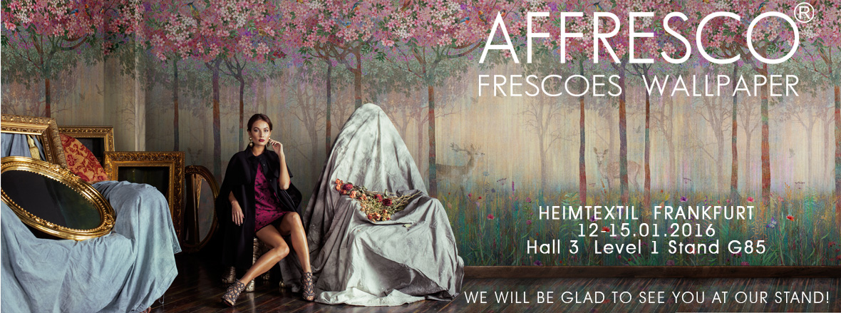 Exhibition Stand Wall Covering : Affresco at heimtextil 2016 exhibition